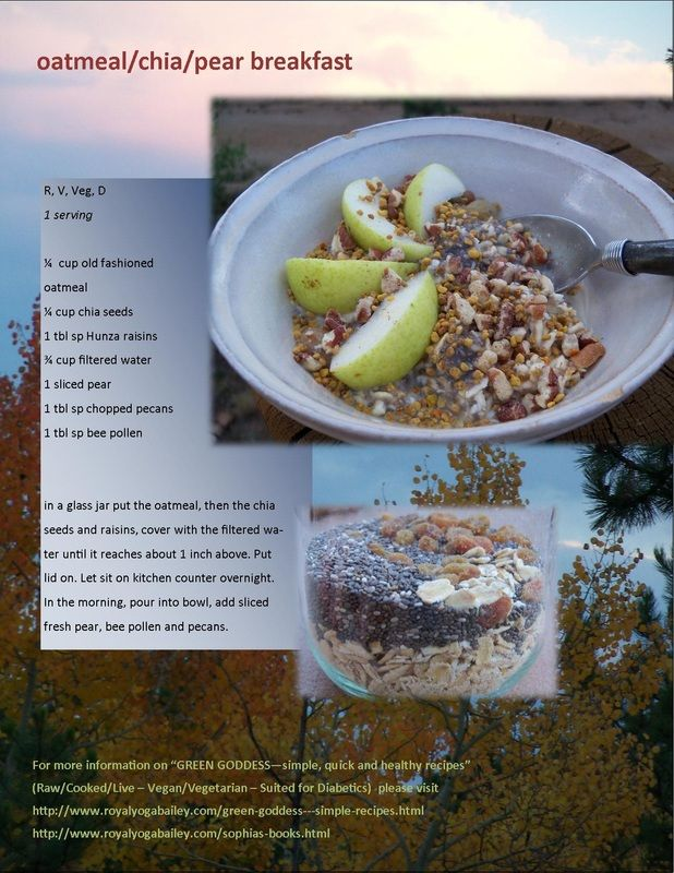 Chia Seed/Pear Breakfast