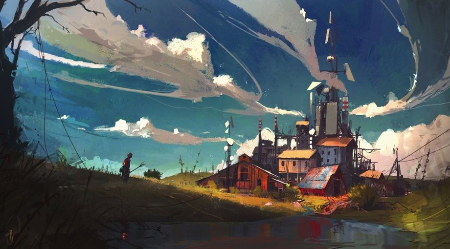 Liquid Fields An Art Print By Ismail Inceoglu Fantasy Landscape Environment Concept Art Landscape Art