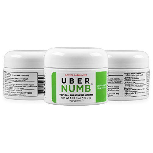 UberNumb :: 5% Lidocaine Topical Anesthetic Cream 1 oz