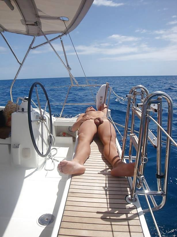 nude wife on sailboat