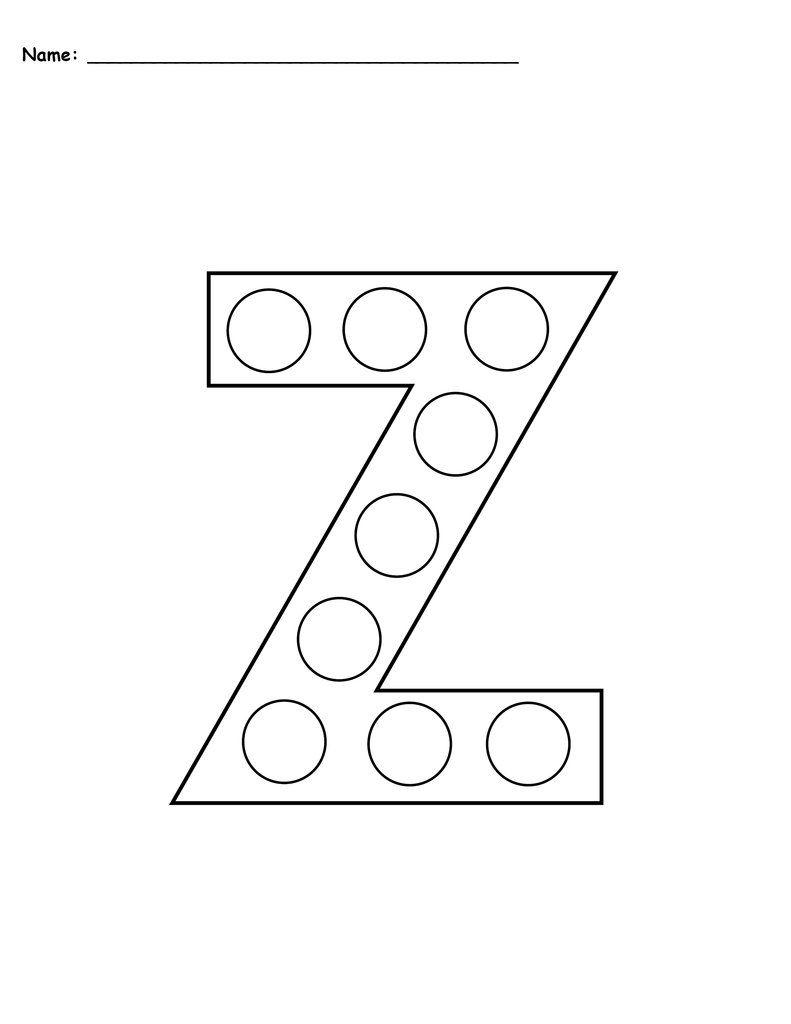Letter Z Do A Dot Printables Uppercase Lowercase Do A Dot Letter Z Letter Z Crafts [ 1024 x 791 Pixel ]
