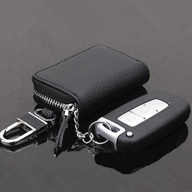 Men Women Key Chain Accessory Pouch Bag Wallet Case Key Holder W