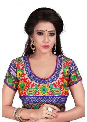 8d891ae3a36d9d Ethnic Wear Readymade Multicolour Cotton Blouse - Deepali2113 ...
