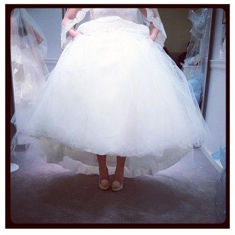 @christinachristensen28 in her wedding dress and Zuri Pumps. Beautiful! Pose by loefflerrandall