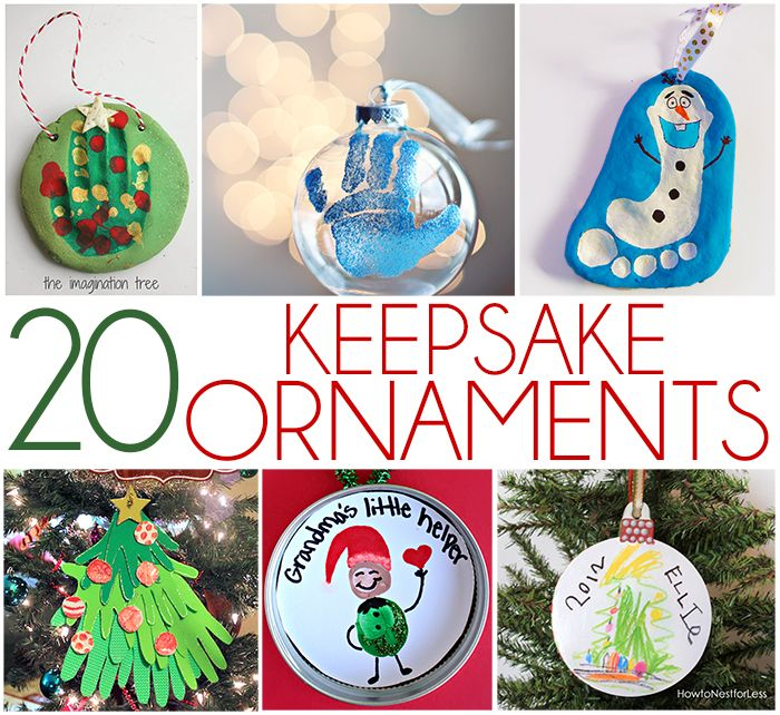 Top 20 DIY Keepsake Ornament Kid Crafts Christmas diy