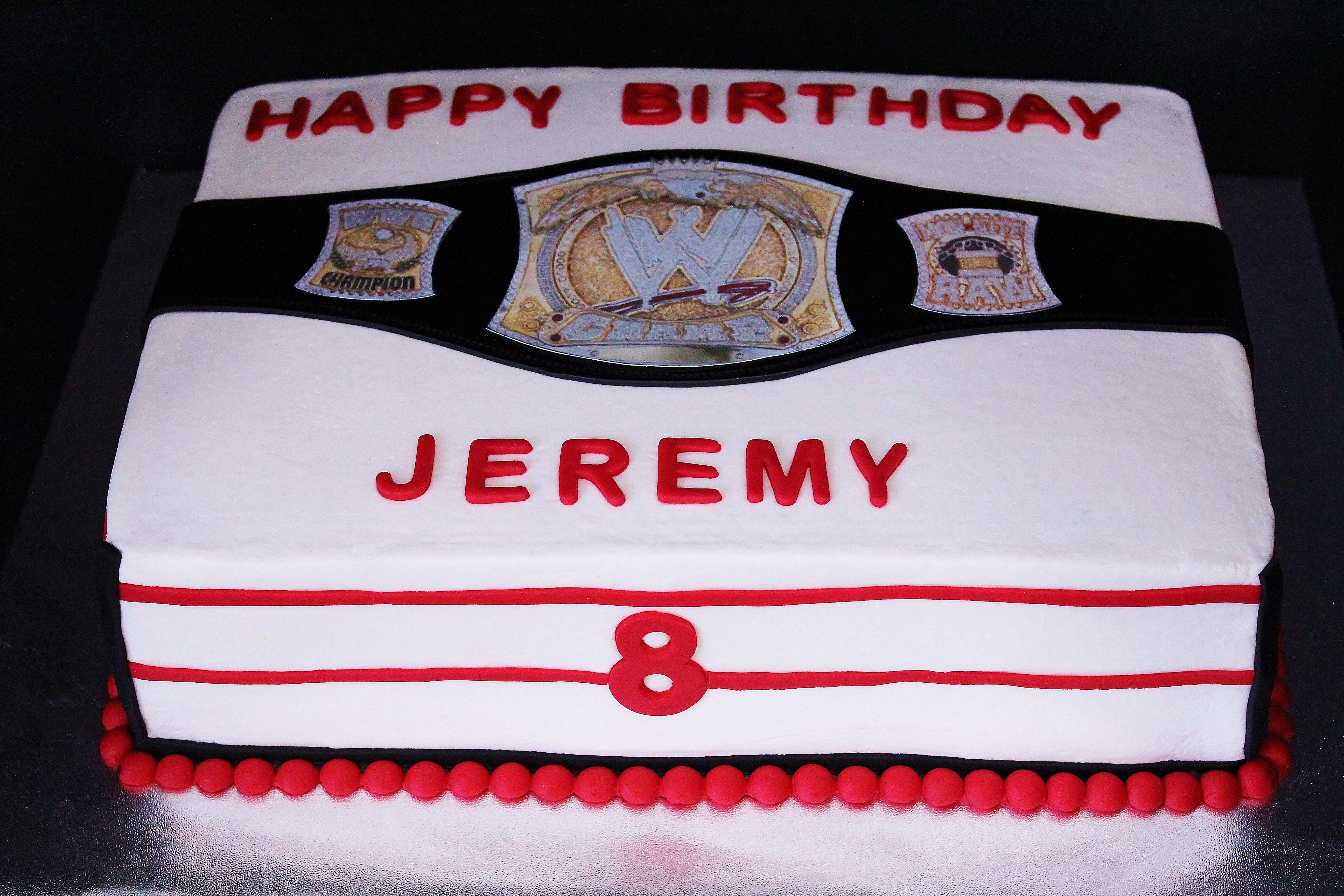 Wrestling Cake by Cecy Huezo and Marina Lamb .  www.delightfulcakesbycecy.com