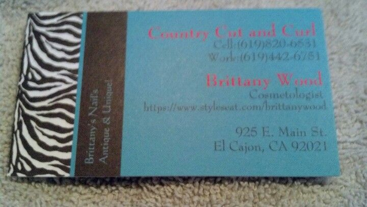 My business card if you live in el cajon nails pinterest my business card if you live in el cajon reheart Image collections
