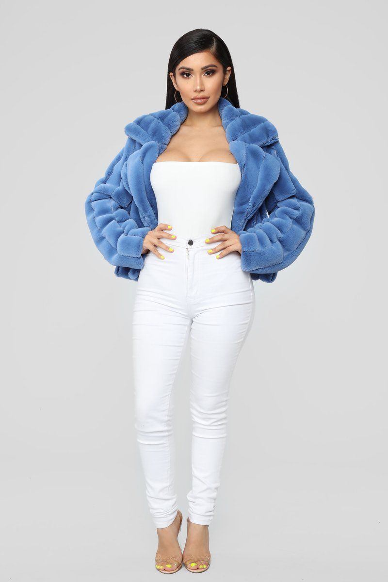5d96b15e67a It s Fur Tonight Jacket - Blue