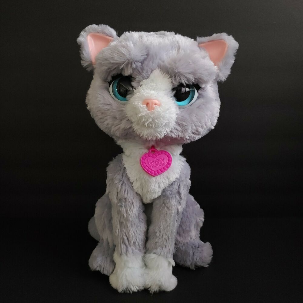 Furreal Friends Bootsie Interactive Cat Plush Pet Kitty Toy Tested Works 12 Hasbro In 2020 Cat Plush Fur Real Friends Cat Toys