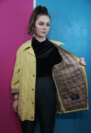 Vintage Burberry Quilted Jacket From Tola Vintage Burberry Quilted Jacket Jackets For Women Women