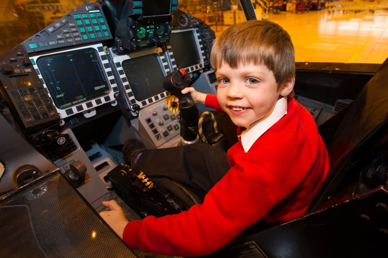 #YouAreWhatYouReadHelp them get the best start. 5 year old Ben sees what being a pilot would be like in the Typhoon Fighter flight simulator at BAE Warton. Using the library will help him achieve his dream.