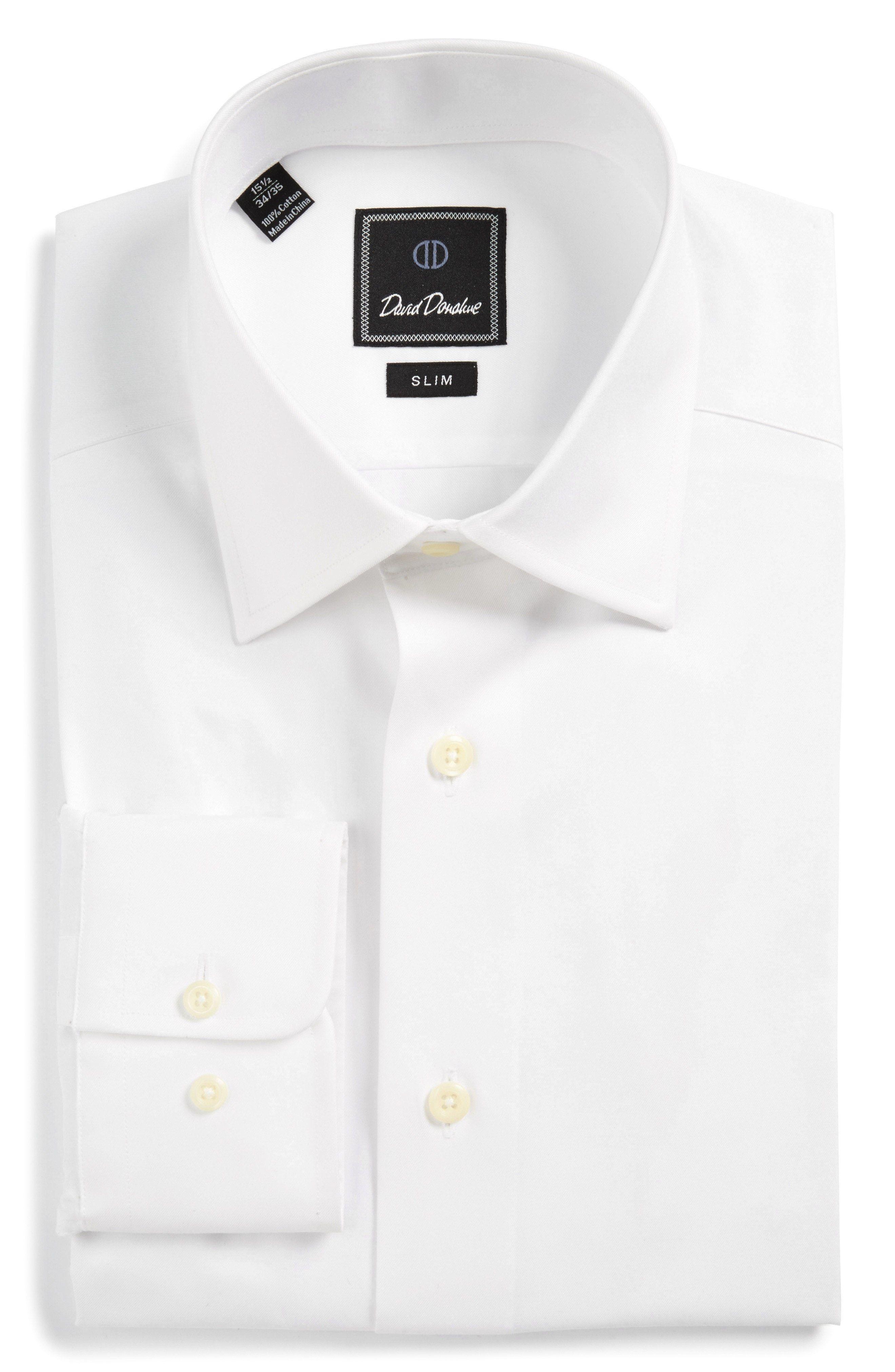 e2f32eb5f New David Donahue Slim Fit Solid Dress Shirt ,PURPLE fashion online. [$135]
