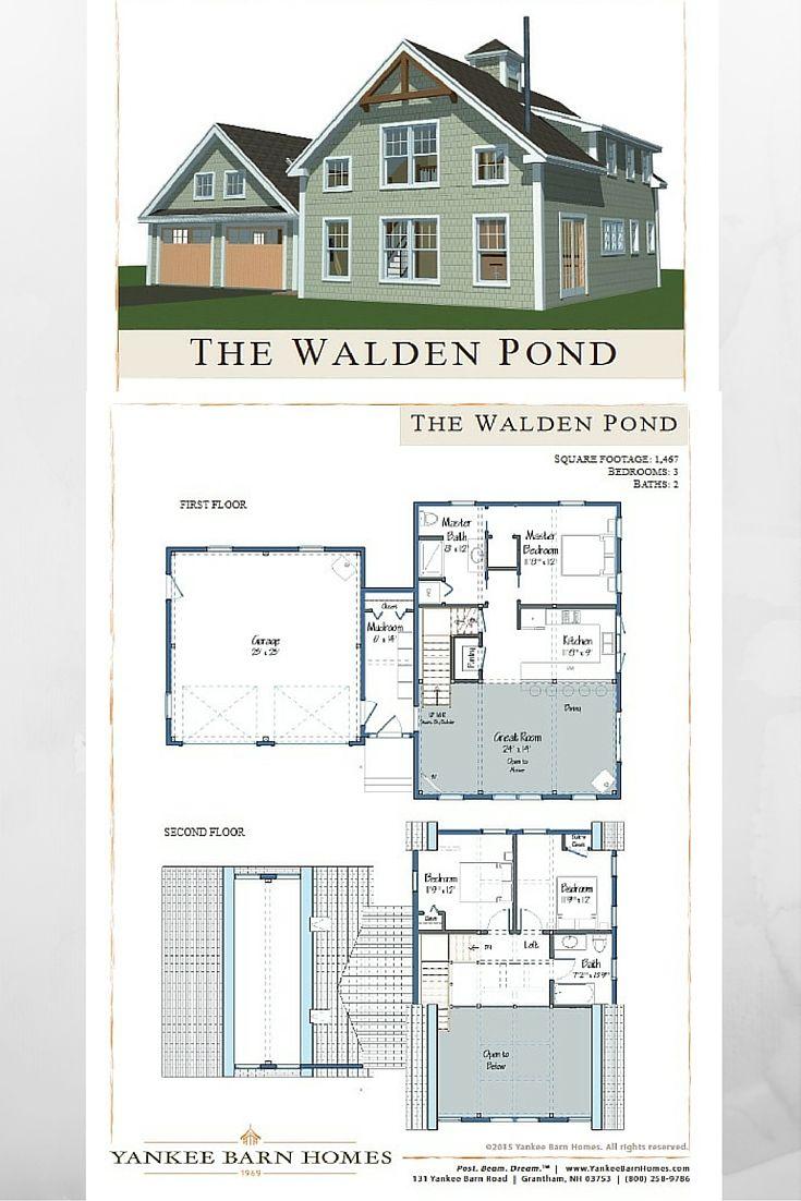 Walden Pond Barn Homes Floor Plans Barn House Design Craftsman