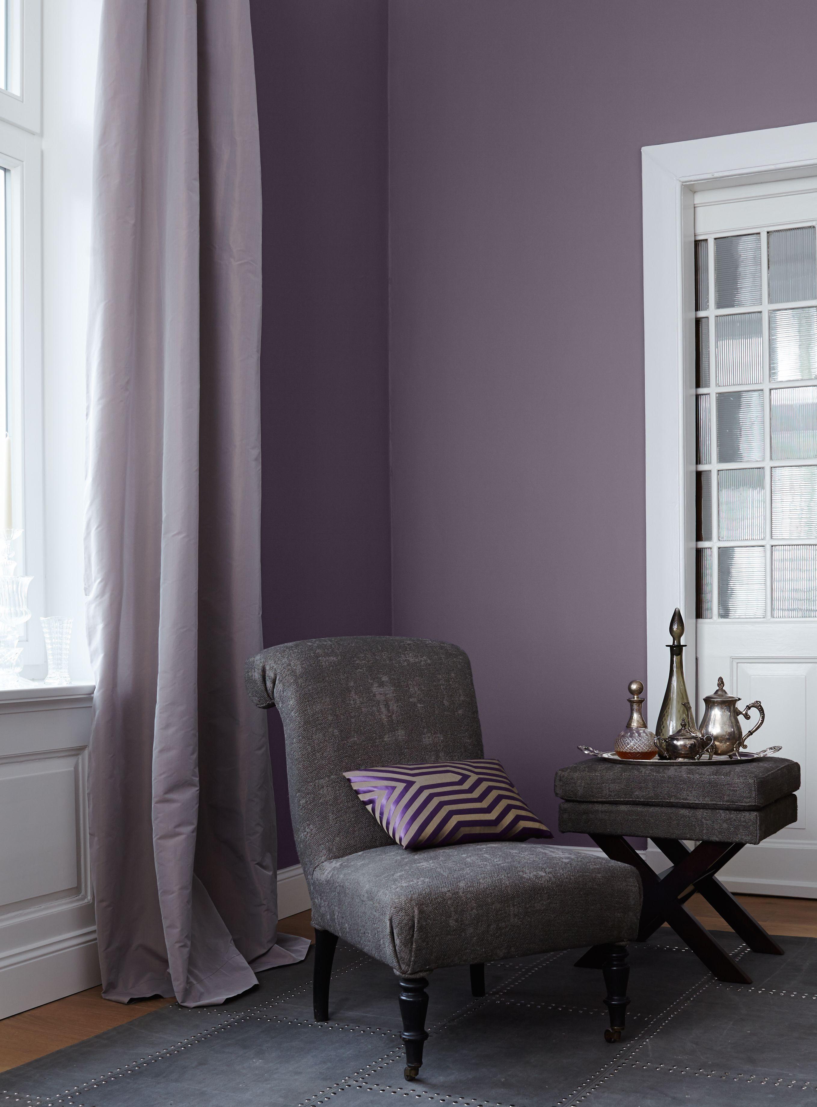 Schlafzimmer Lila Grau Streichen Lila Wande Wandfarbe Und