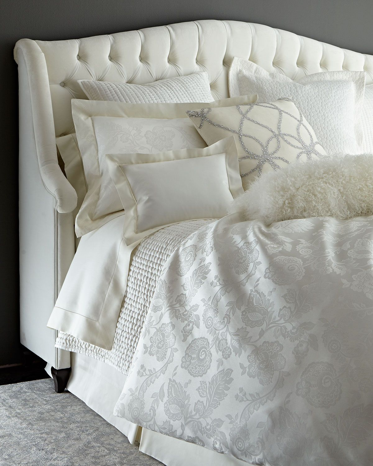 Annie Selke Luxe Chinois Bedding & Seta Quilted Silk Bedding