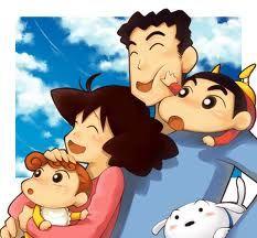 shinchan's family i love it himawari is his sister like shinchan both are soo soo cuty cute