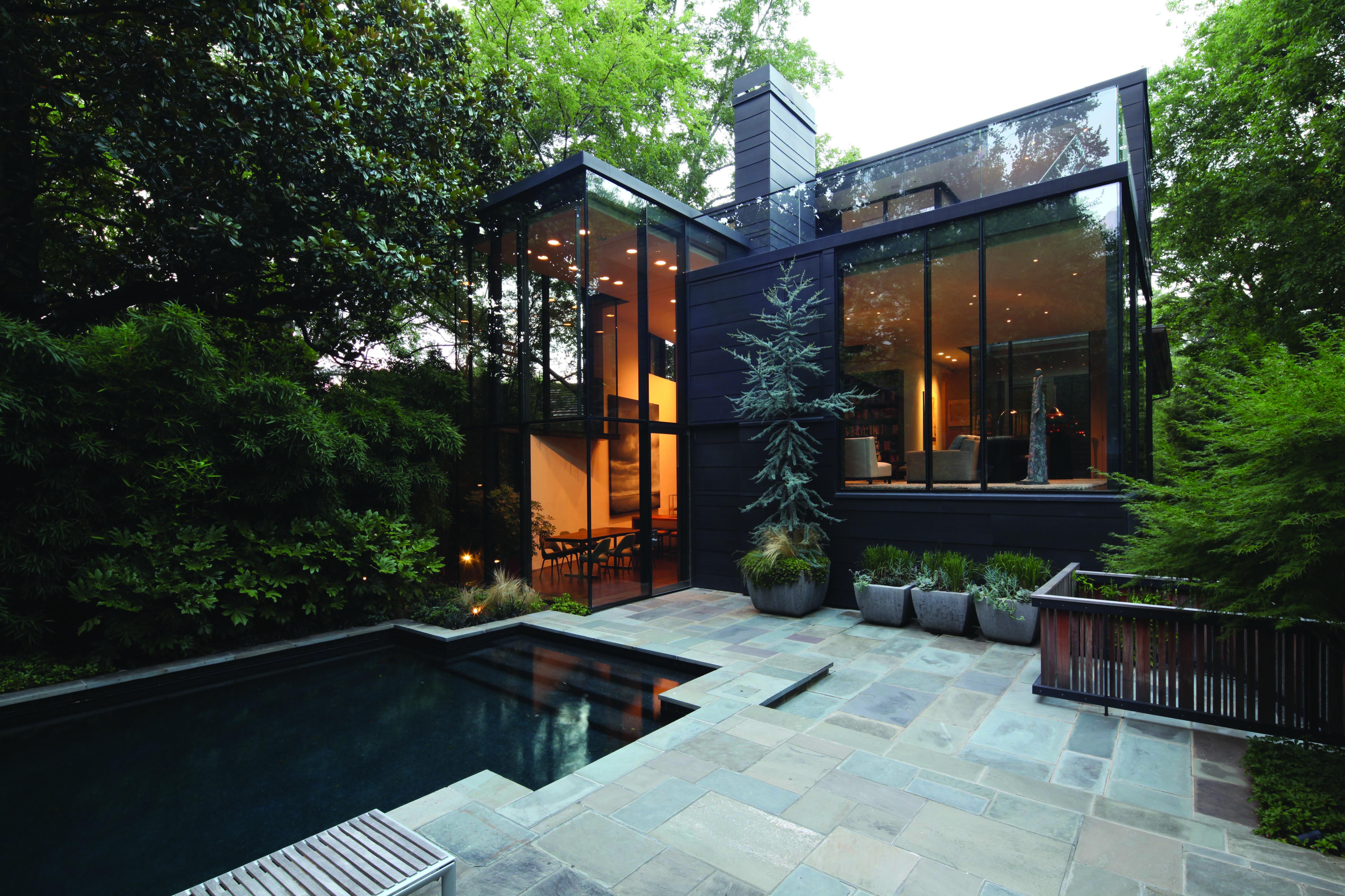 Vmzinc modern design zinc home metalpanel anthra for Modern zinc houses