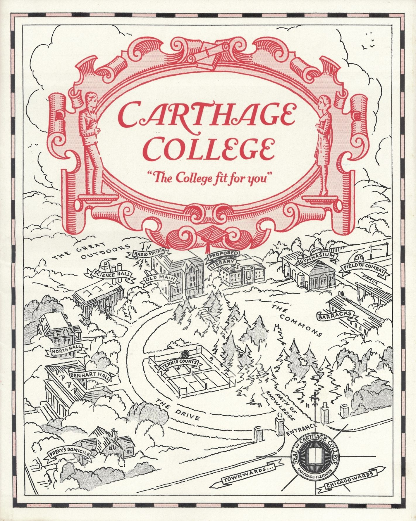 Carthage Illinois Campus Map 1926 Staubitz Archives Digital