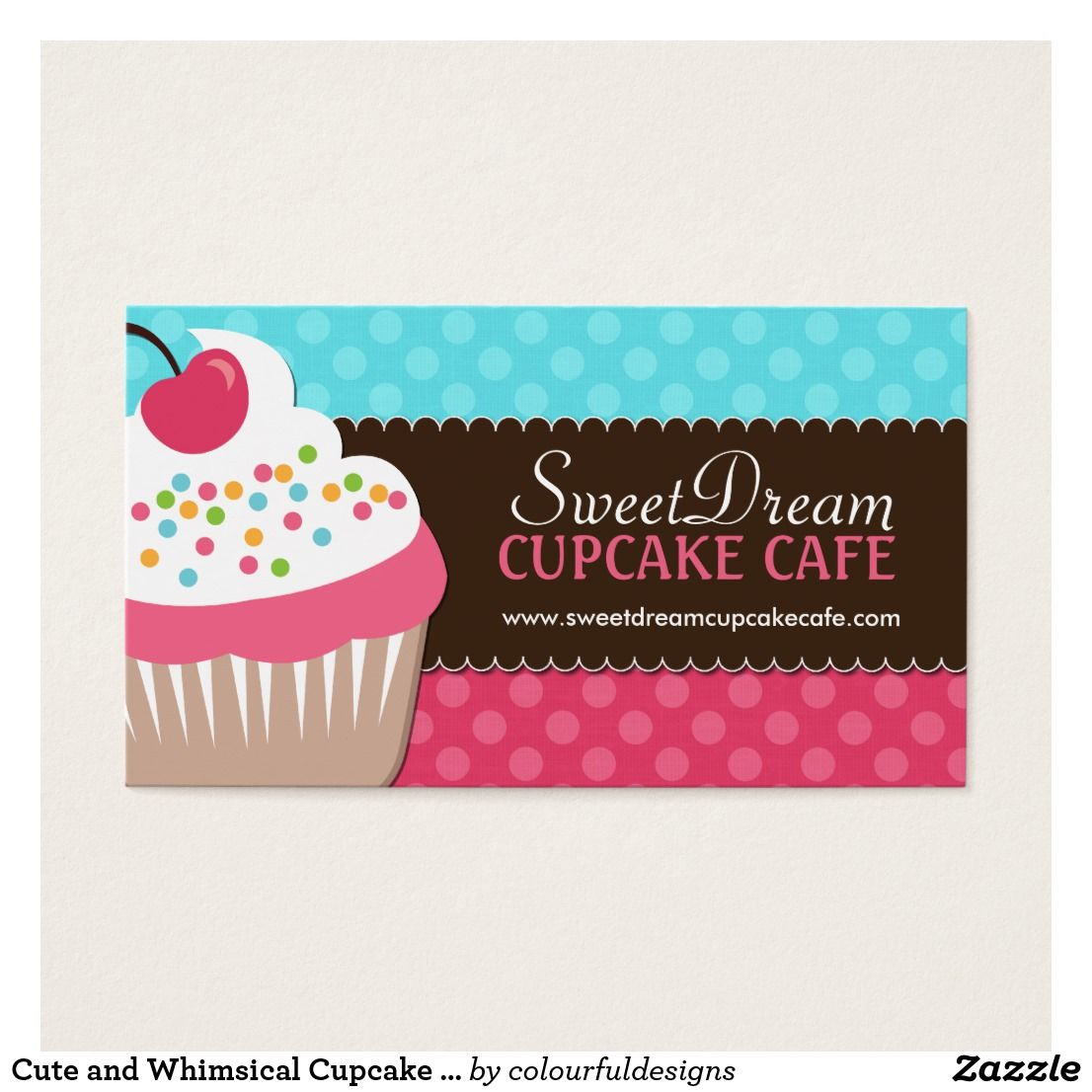 Cute and Whimsical Cupcake Bakery Business Cards | Pinterest ...