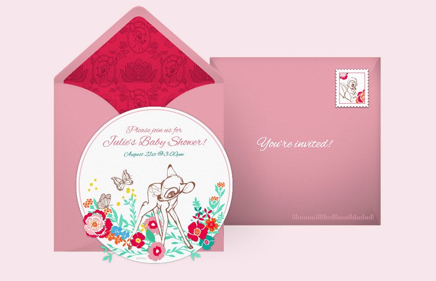 Customizable, free Bambi online invitations. Easy to personalize and ...