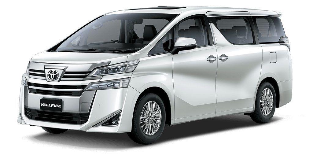 Toyota Vellfire Colors Black White Graphite Burning Black In 2020 Toyota Toyota Innova Product Launch