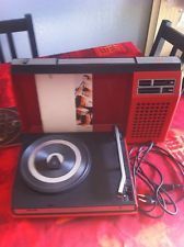Tourne-disque Platine Vintage Valise Philips 270    An  70's Orange