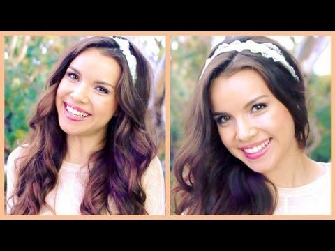 Wavy Curls for Spring + GIY Headbands! ❀ - YouTube