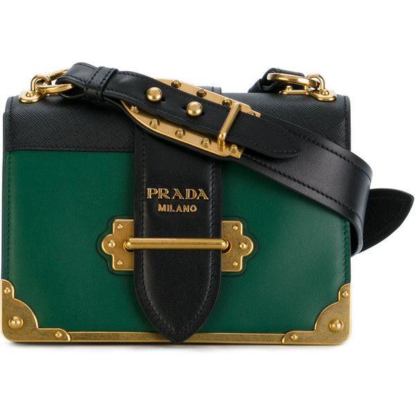 aeb59fca0b7cb Prada Milano Green Leather Handbag - HandBags 2018