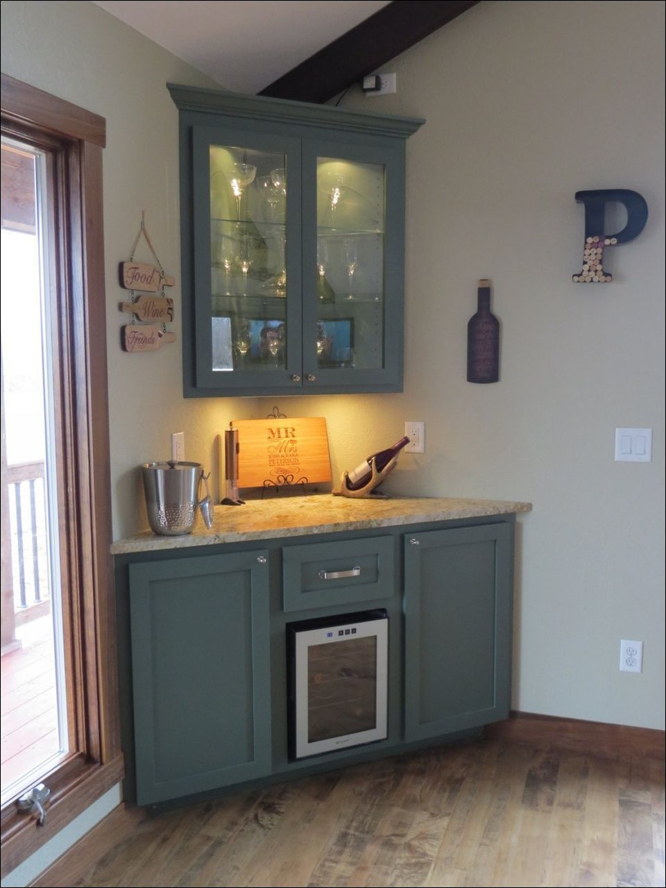 Corner Bar Cabinet For Coffe And Wine Places 29 Rockin