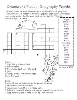 Freebie Island Of The Blue Dolphins Crossword Puzzle Dolphins
