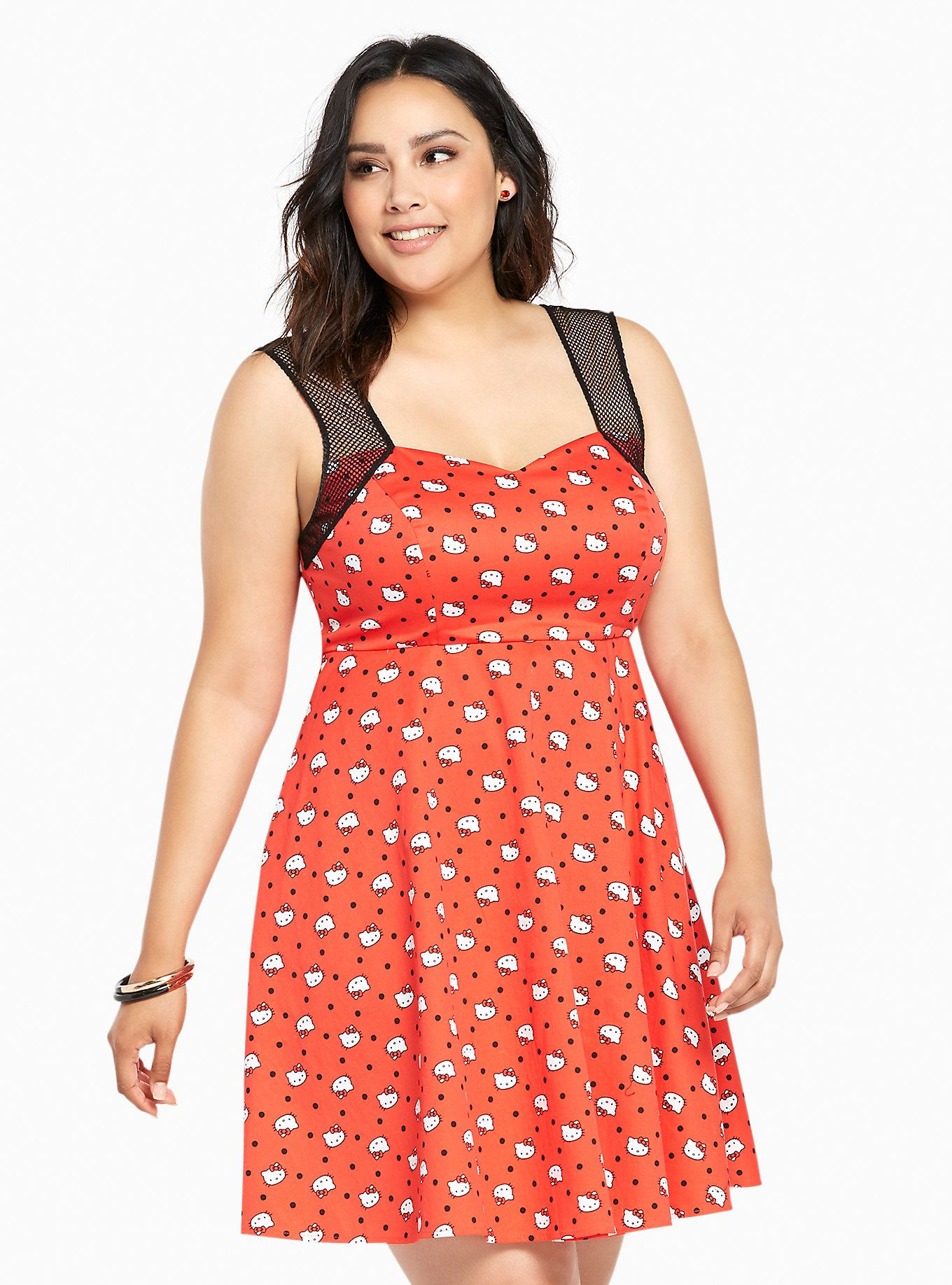 Sanrio Hello Kitty Collection Polka Dot Swing Dress