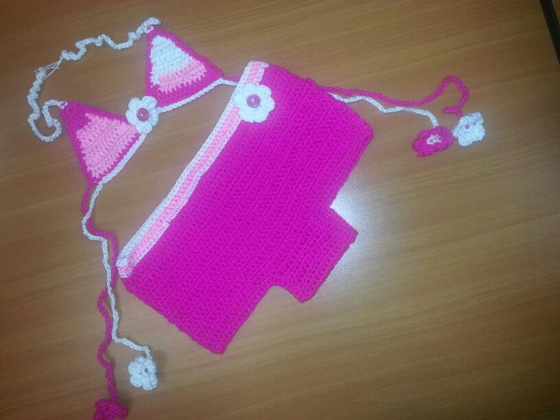 Traje de baño crochet niña | vestidos de baño crochet | Pinterest ...