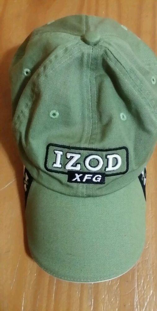 b26d5d2fde879 IZOD XFG Green Embroidered Ball Cap Hat-Adjustable  IZOD  BaseballCap  Price US  11.99