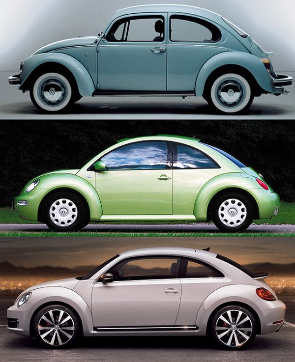 All 3 Versions Of The Car Vw New Beetle Volkswagen New Beetle