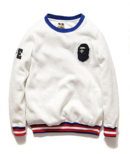 BAPE A BATHING APE Men/'s Sweatshirt Women/'s Hoodie Crew Neck Cotton Pullover