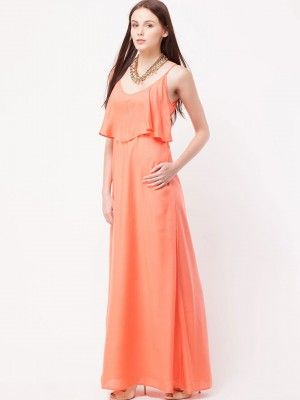 FEMELLA Empire Line Maxi Dress purchase from koovs.com | Maxi ...