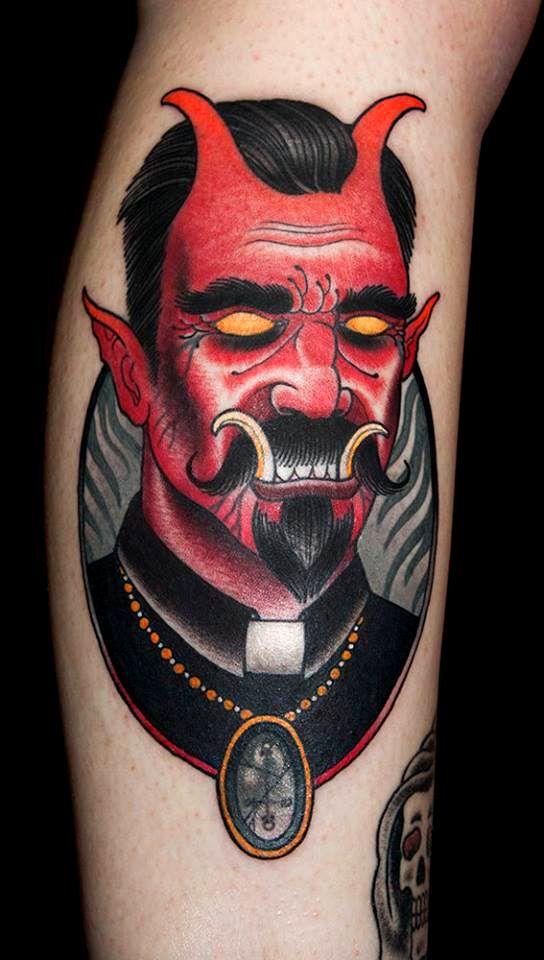 devil face tattoo deviltattoo tattoos t tattoos face