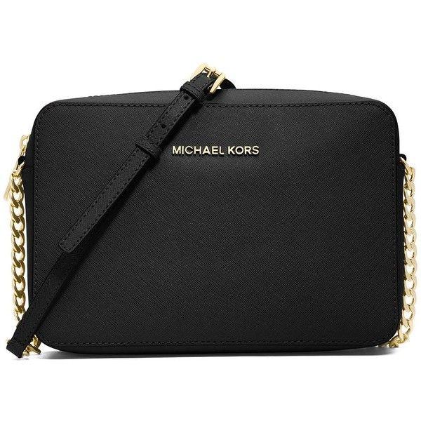f13c06f18a53 MICHAEL MICHAEL KORS Jet Set Travel Saffiano Crossbody Bag ( 148) ❤ liked  on Polyvore