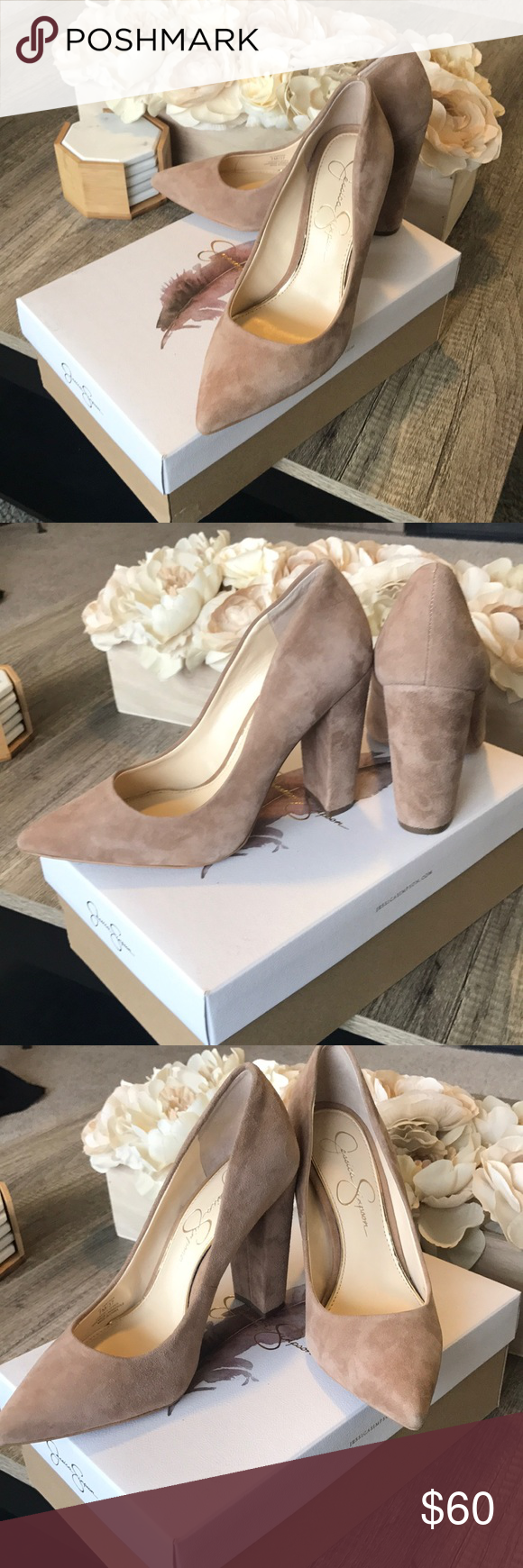 9993381818c Jessica Simpson Belemo Nude Suede Pumps Color  Nude Material  Suede Have  not been worn