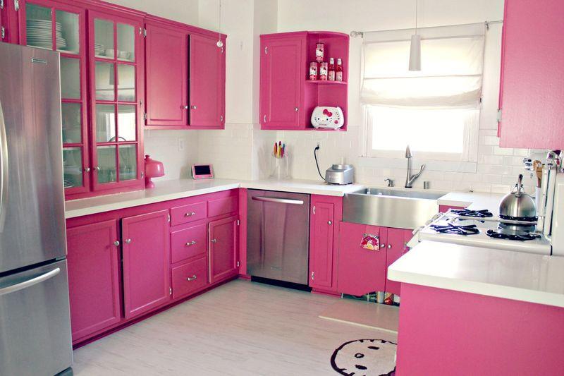 Top 20 Cocinas en Color Rosa Cocinas rosadas, Cocina