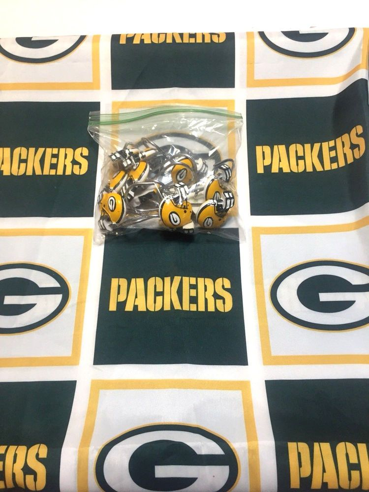Green Bay Packers Shower Curtain And Helmut Hooks NFL 72 X GreenBayPackers