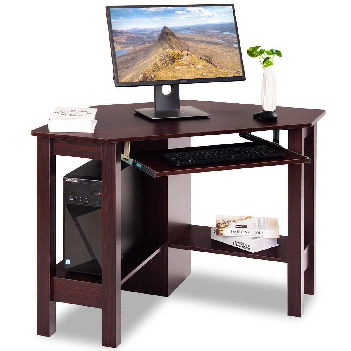 Wooden Study Computer Corner Desk With Drawer Wooden Corner Desk Desk With Drawers Small Office Desk
