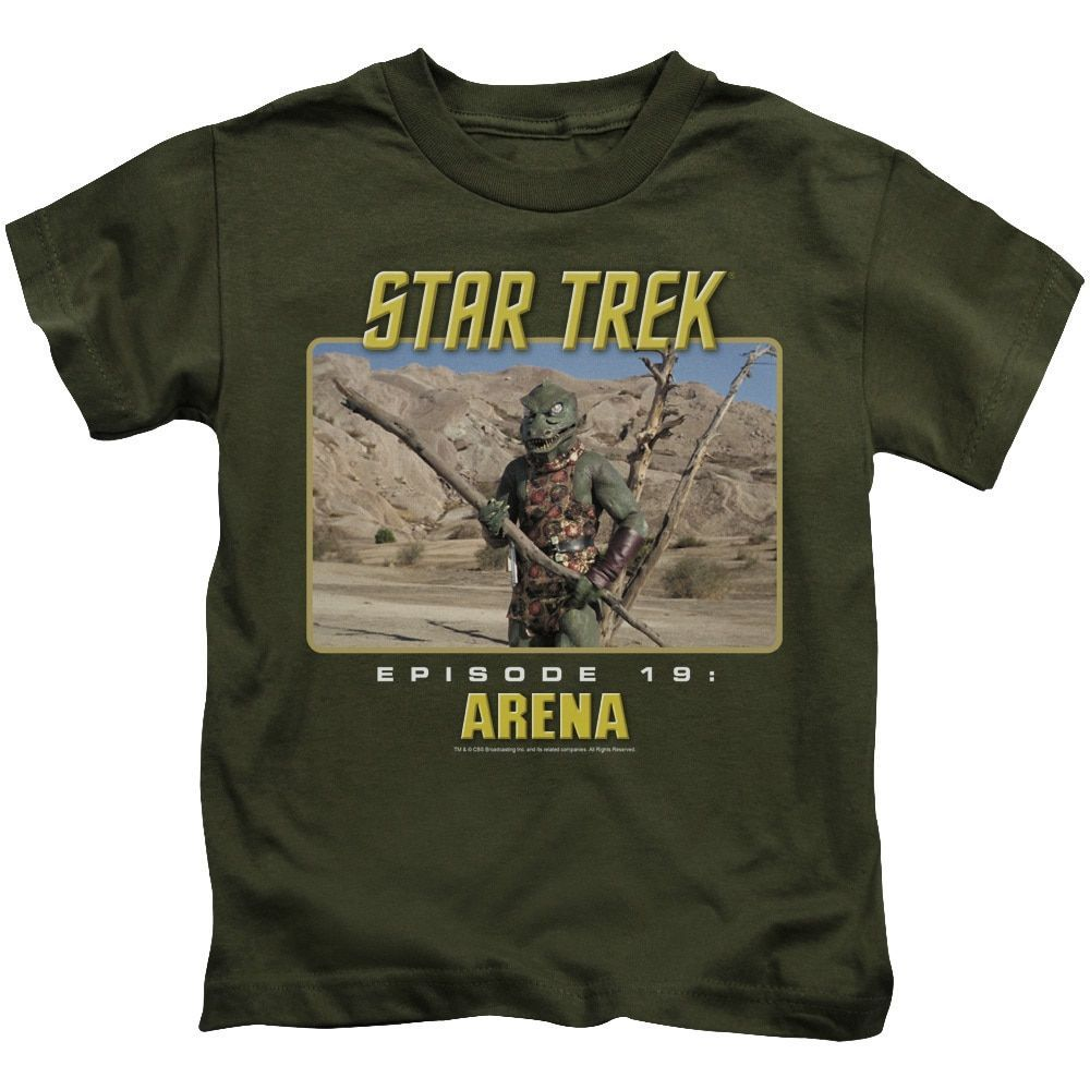 St Original/Arena Short Sleeve Juvenile T-Shirt in Military