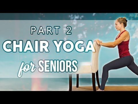 easy beginners yoga class with a chair ♥ all ages  levels