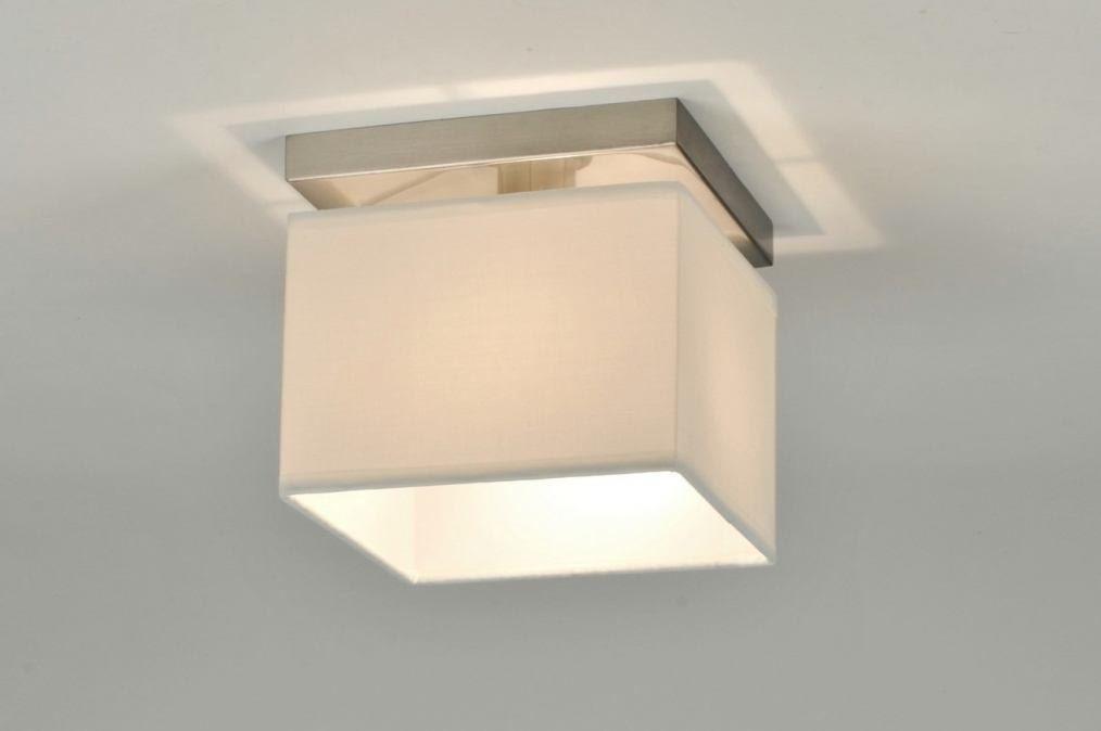 Deckenleuchte 71211 Deckenlampe, Stoff weiß, Modern