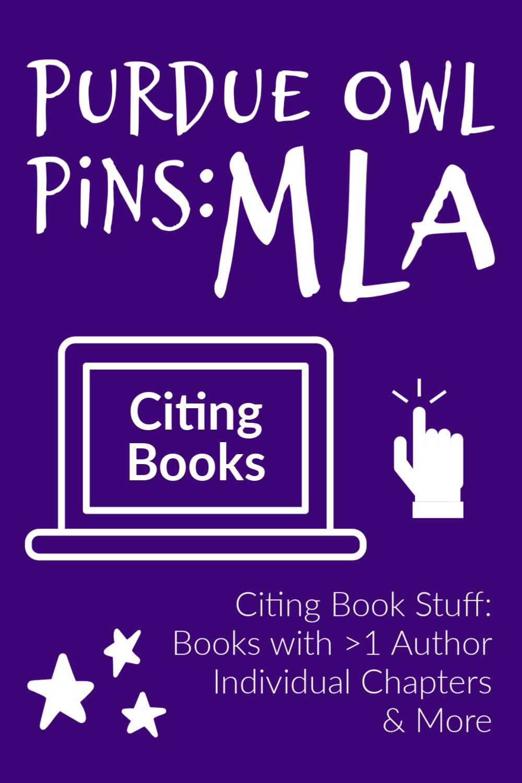 Mla Citation Book Writing Lab Work Cited Books Purdue Owl