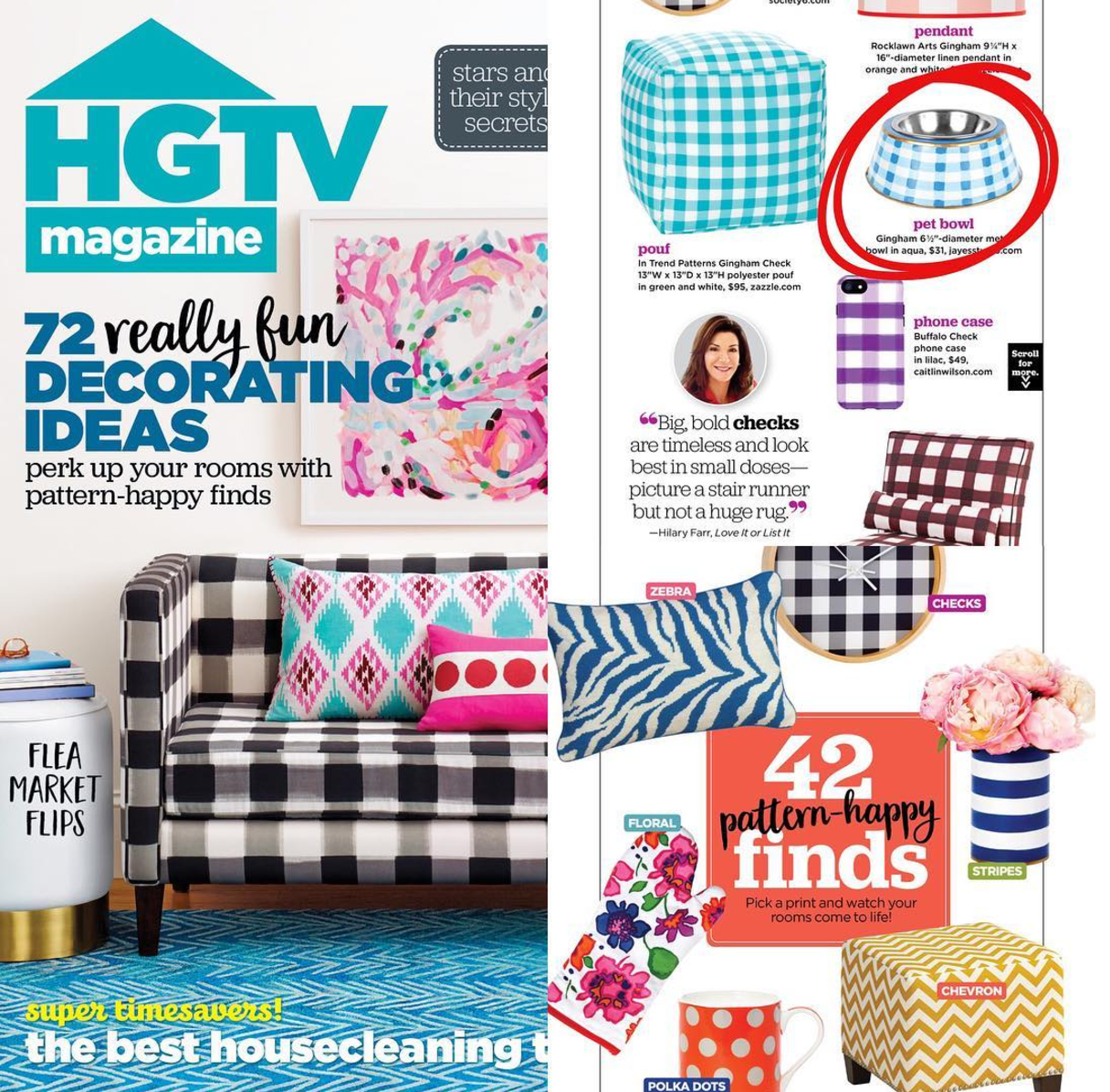Check Out Jayes Studio In HGTV Magazine, March 2017.