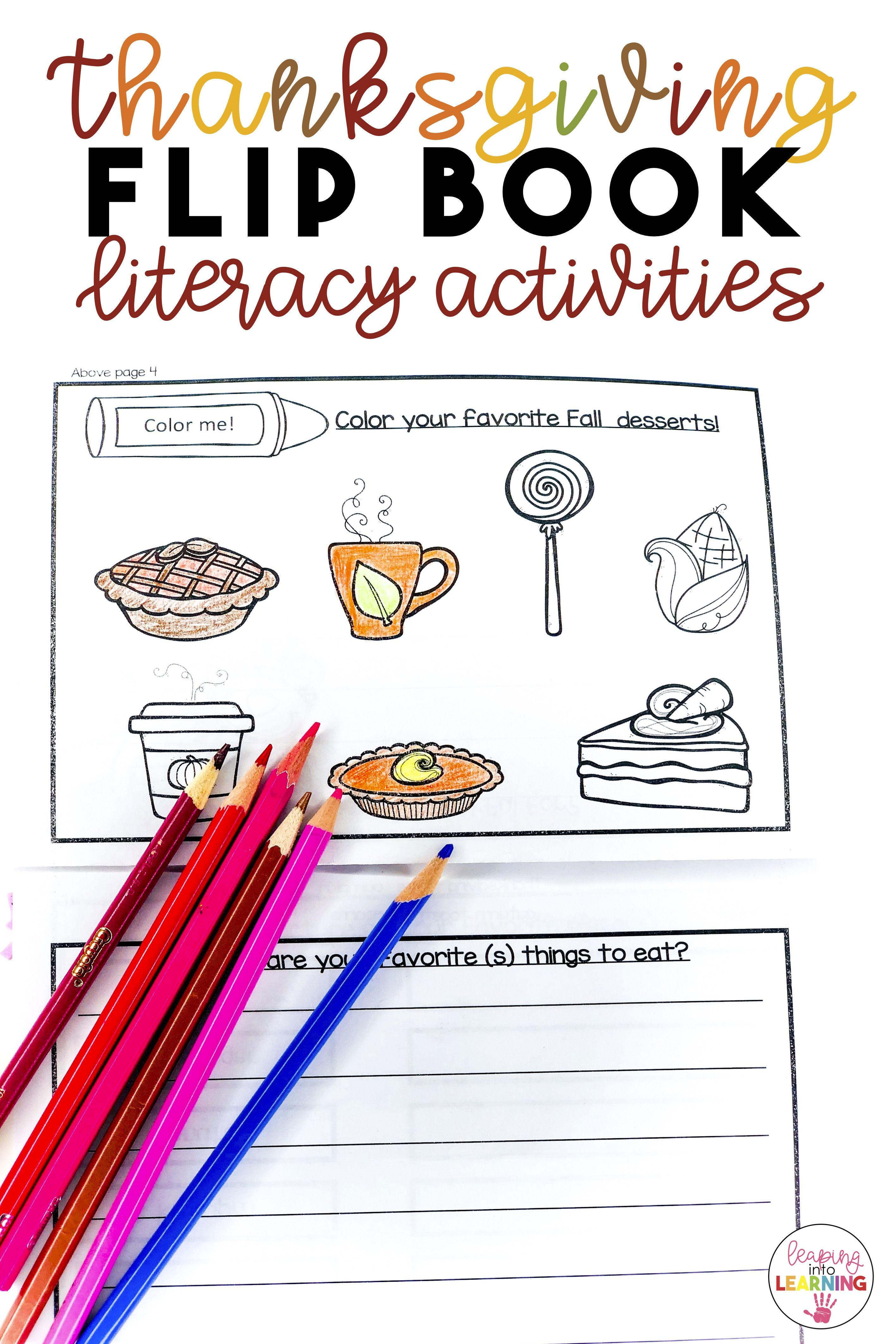 Thanksgiving Writing Activities Flip Book With Images