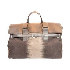 5d7496d5a8 Salvatore Ferragamo Brown Leather Overnight Bag