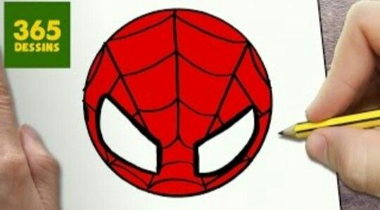 Tete Spider Man Kawaii Comment Dessiner Spiderman Dessin